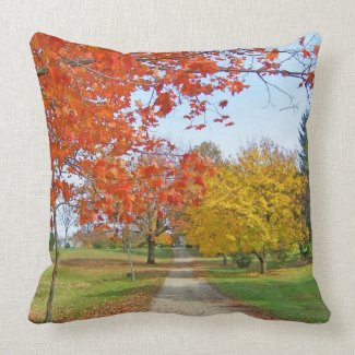 Autumn Leaves Fall Pillow