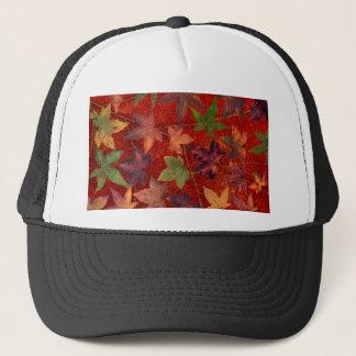 Autumn Leaves Fall Season Tree Leaf Colorful Trucker Hat
