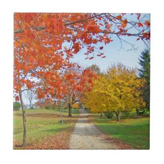 Autumn Leaves Fall Tile