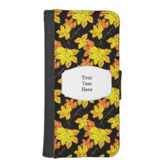 Autumn Leaves Fall Wallet Phone Case For iPhone SE/5/5s