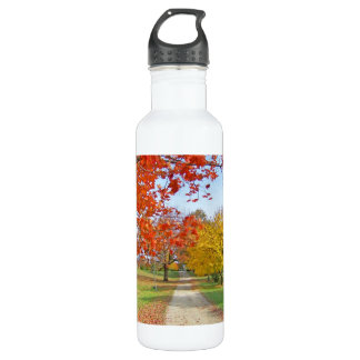 Autumn Leaves Fall Water Bottle