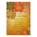 Autumn leaves Fall wedding Invitation