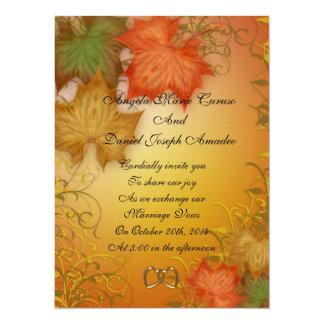 "Autumn leaves Fall wedding Invitation large 5.5"" X 7.5"" Invitation Card"