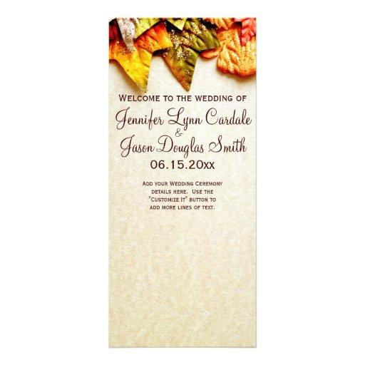 Autumn Leaves Fall Wedding Programs Rack Cards