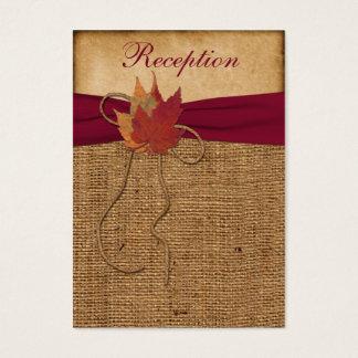 Autumn Leaves, FAUX Burlap Enclosure Card 3