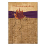 Autumn Leaves, FAUX Burlap Wedding Enclosure Card