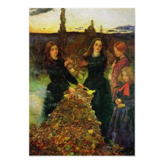 Autumn Leaves Fine Art 5x7 Paper Invitation Card