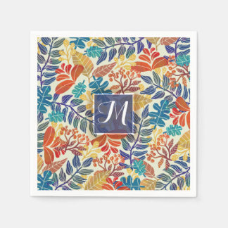 Autumn Leaves Fine Floral Background Napkin