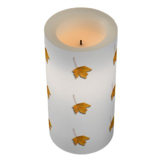 Autumn Leaves Flameless Candle