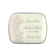 Autumn Leaves, Floral Fall Wedding Favor Candy Jelly Belly Tin at Zazzle
