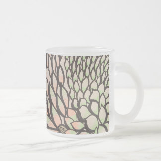 Autumn leaves frosted glass coffee mug