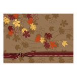 Autumn Leaves Gift Tag Large Business Cards (Pack Of 100)