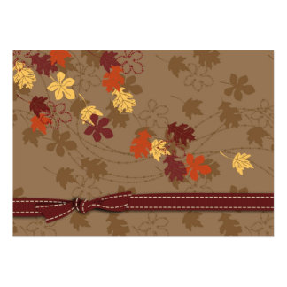 Autumn Leaves Gift Tag Large Business Card
