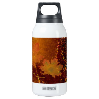 autumn, leaves, golden brown 10 oz insulated SIGG thermos water bottle