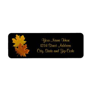 Autumn Leaves Graphic Return Address Label