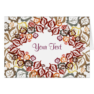Autumn Leaves. Greeting Card