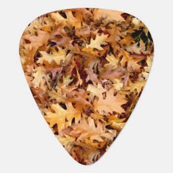 Autumn Leaves Guitar Pick by Awesoma at Zazzle