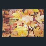 """Autumn leaves hand towel<br><div class=""""desc"""">Autumns leaves. Autumns does not leave. It is here and brought for you this beautiful background you can personalize with your own text. Enjoy!</div>"""