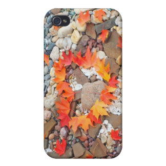 Autumn Leaves Heart is Rock Garden iPhone 4/4S Covers