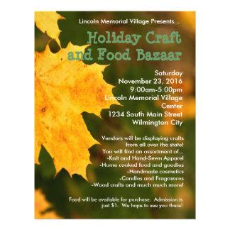 Autumn Leaves Holiday Craft Bazaar Flyer