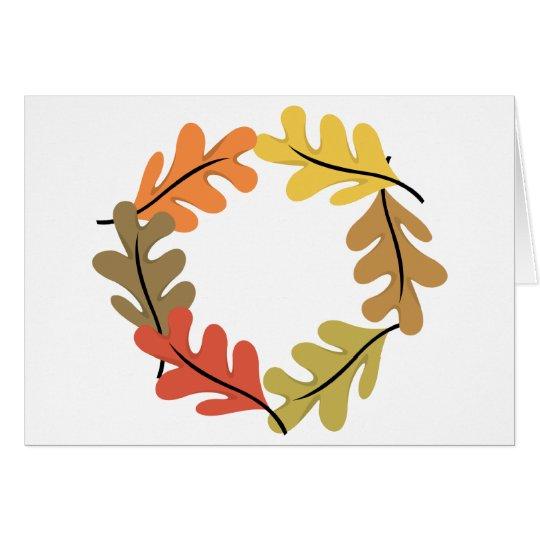 Autumn Leaves Hoop Card