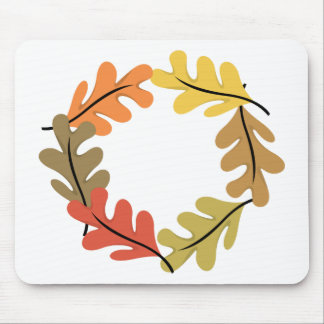 Autumn Leaves Hoop Mouse Pad