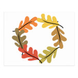 Autumn Leaves Hoop Post Cards