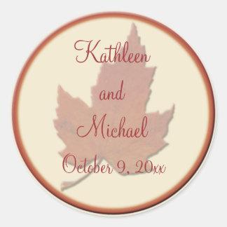 """Autumn Leaves II 1.5"""" Diameter Round Sticker"""