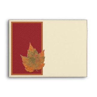 "Autumn Leaves II Envelope for 5""x7"" Sizes"