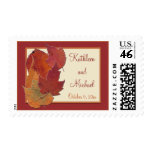 Autumn Leaves II Monogrammed Postage