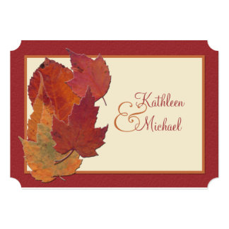 Autumn Leaves II Monogrammed Wedding Invitation 2