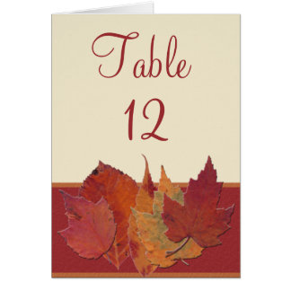 Autumn Leaves II Reception Table Card Cards