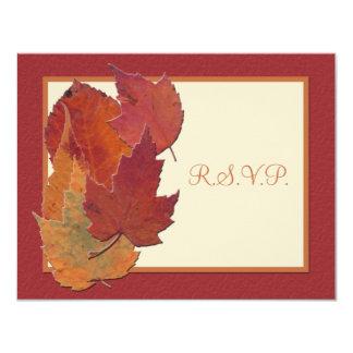 Autumn Leaves II RSVP Card