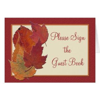 Autumn Leaves II Table Card Card