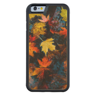 Autumn Leaves in a Pool of Dark Water Carved Maple iPhone 6 Bumper Case