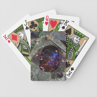 Autumn leaves in Japanese pond Bicycle Playing Cards