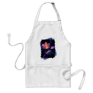 Autumn Leaves in Neon and Blue Adult Apron