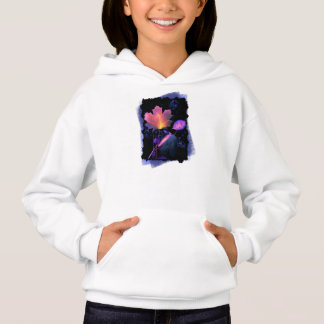 Autumn Leaves in Neon and Blue Hoodie