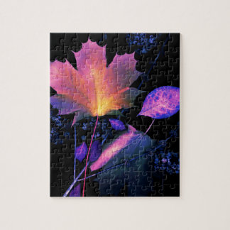 Autumn Leaves in Neon Jigsaw Puzzle