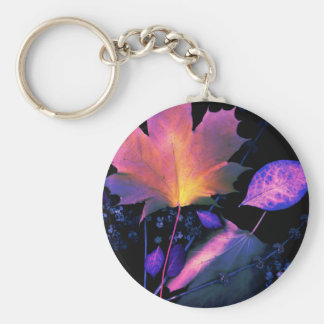 Autumn Leaves in Neon Keychain