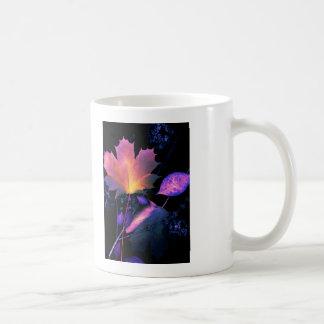 Autumn Leaves in Neon Classic White Coffee Mug