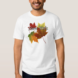 AUTUMN LEAVES IN NEW YORK T SHIRT