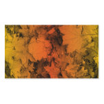 Autumn Leaves in Orange and Gold Business Card