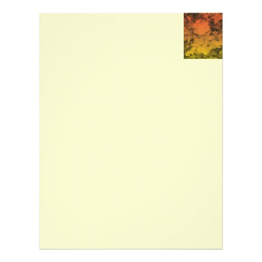 Autumn Leaves in Orange and Gold Custom Letterhead