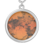 Autumn Leaves in Orange and Gold Pendant