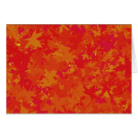 Autumn Leaves in Regal Red and Gold Custom Card