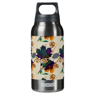 Autumn Leaves in Royal Colors Insulated Water Bottle