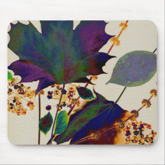 Autumn Leaves in Royal Colors Mouse Pad