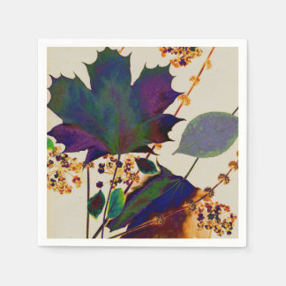 Autumn Leaves in Royal Colors Napkin