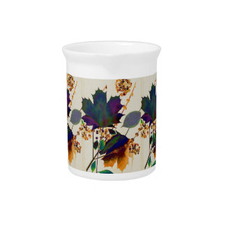 Autumn Leaves in Royal Colors Pitcher